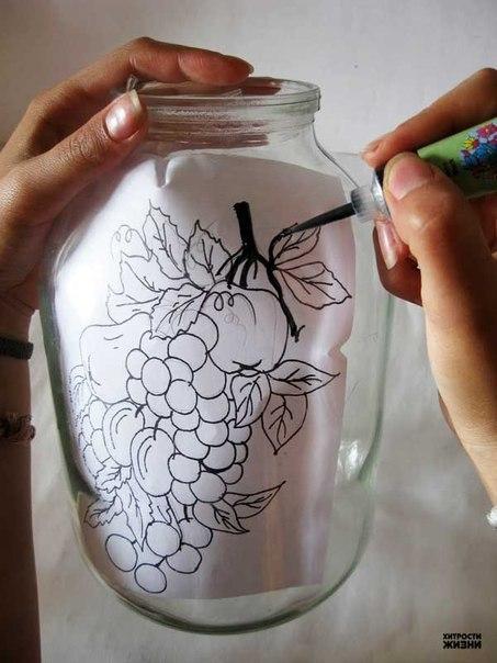 Как сделать роспись по стеклу
