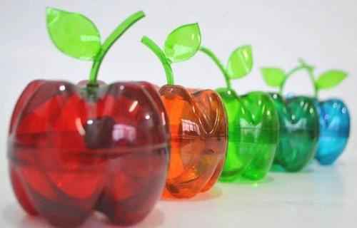 Яблоко из пластиковой бутылки своими руками 31